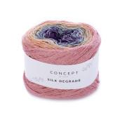 Silk Degrade, Corai-Ocru-Bleu-Violet