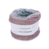 Silk Degrade, Roz pastel-Gri-Mentă