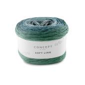 Soft Lino, Verde mentă-Albastru-Bleu