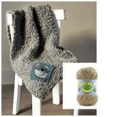 DOUDOU - kit de tricotat păturică