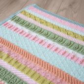 LES PETITES CHOSES - kit de tricotat păturică