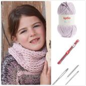 Kit de tricotat fular-guler Bambi