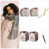 INCA LOVE - kit de tricotat fular
