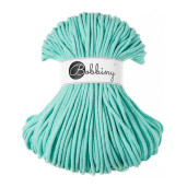 Șnur tubular clasic Bobbiny Premium, 5 mm - Verde mentă pastel