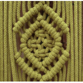 Detaliu macrame din din șnur tubular clasic Bobbiny 5 mm