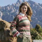 Model pulover torsade Azteca