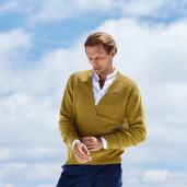 Pulover clasic bărbați - Cashmere 16 Fine