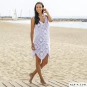 Rochie croșetată de plajă Tencel-Cotton