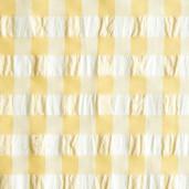 Bumbac Vichy, model galben