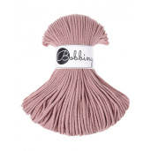 Șnur tubular subțire Bobbiny Junior, 3 mm - Roz pudrat